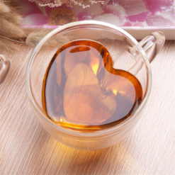 Heart shaped double wall cup